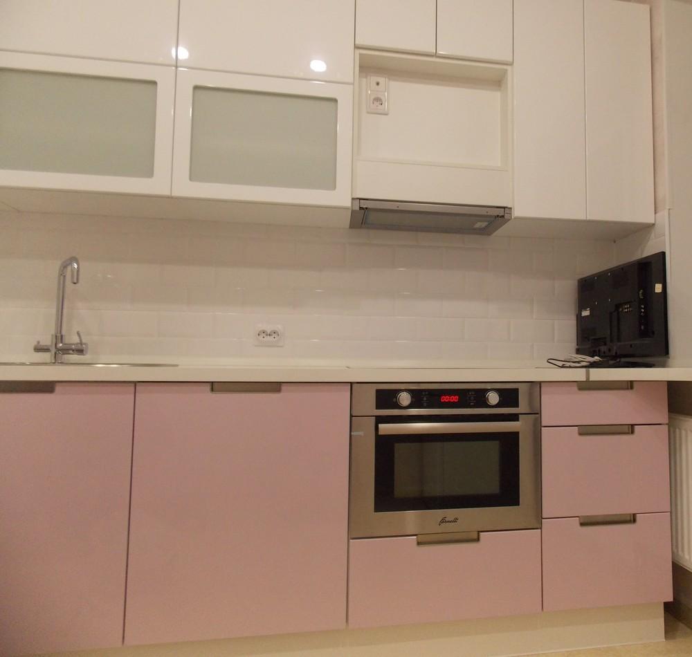 Белый кухонный гарнитур-Кухня МДФ в ПВХ «Модель 193»-фото2