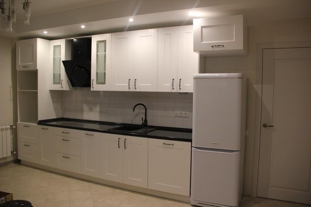 Белый кухонный гарнитур-Кухня из массива «Модель 175»-фото2