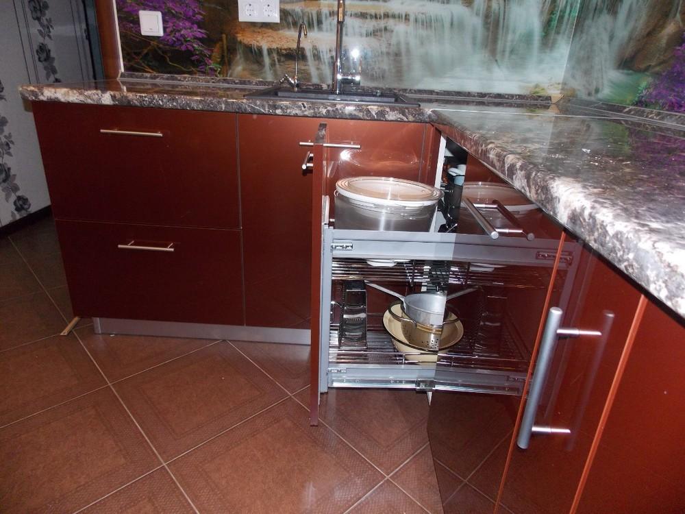 Акриловые кухни-Кухня из пластика «Модель 137»-фото5