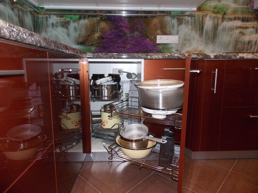 Акриловые кухни-Кухня из пластика «Модель 137»-фото6