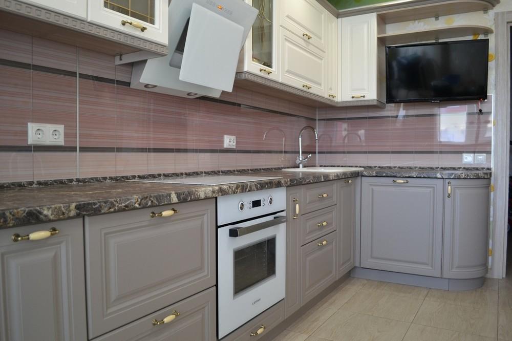 Встроенная кухня-Кухня МДФ в ПВХ «Модель 178»-фото6