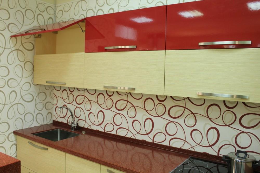 Акриловые кухни-Кухня из пластика «Модель 129»-фото14