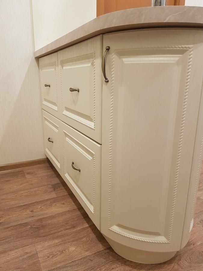 Белый кухонный гарнитур-Кухня МДФ в ПВХ «Модель 70»-фото6