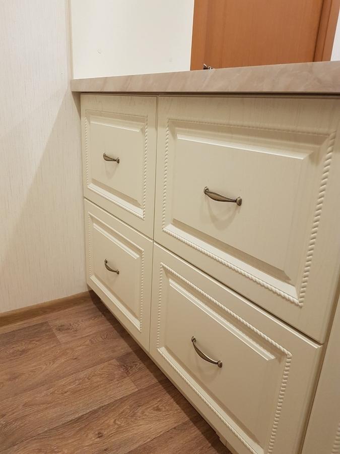 Белый кухонный гарнитур-Кухня МДФ в ПВХ «Модель 70»-фото7