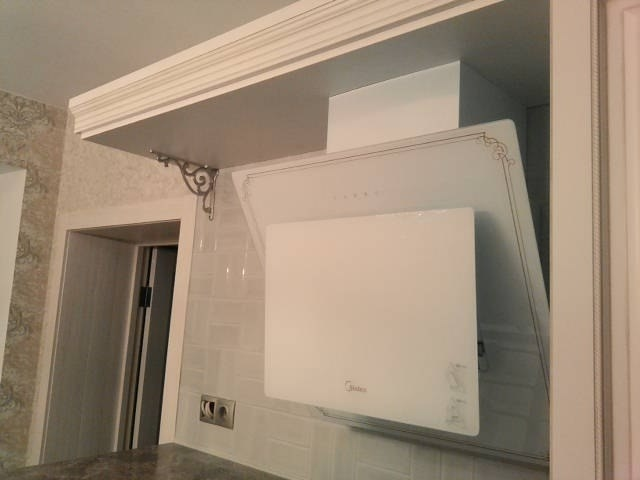 Белый кухонный гарнитур-Кухня МДФ в ПВХ «Модель 33»-фото3
