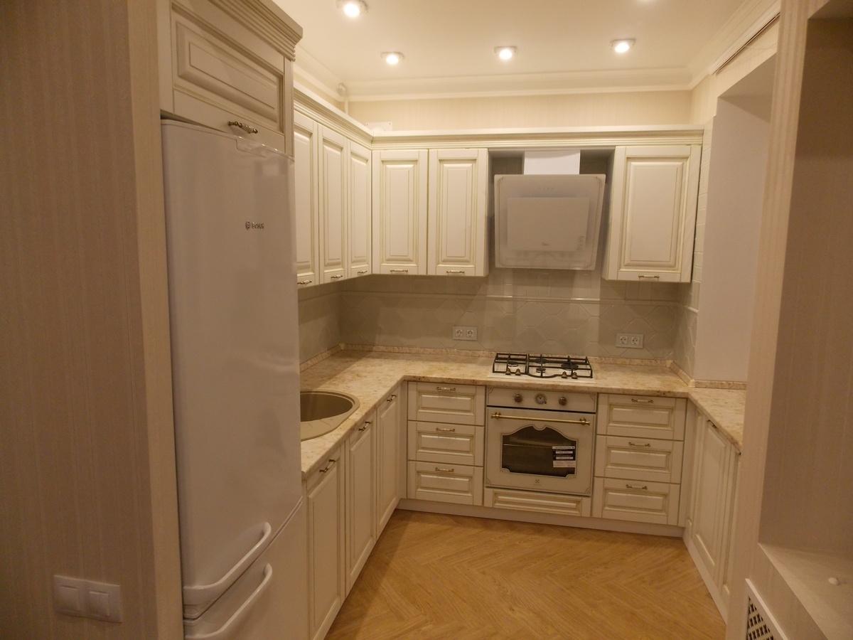 Белый кухонный гарнитур-Кухня МДФ в ПВХ «Модель 33»-фото2