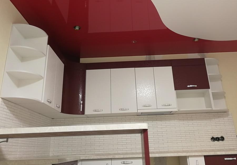 Белый кухонный гарнитур-Кухня МДФ в ПВХ «Модель 52»-фото6