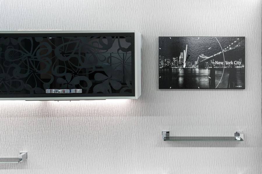Белый кухонный гарнитур-Кухня МДФ в эмали «Модель 48»-фото4