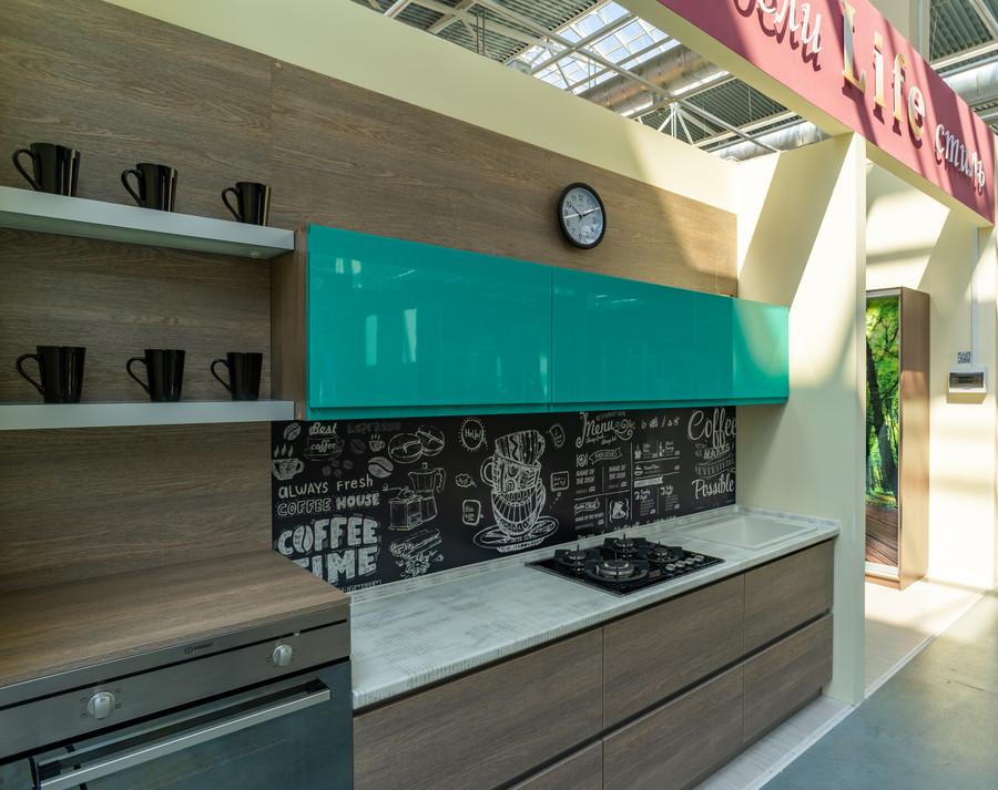 Встроенная кухня-Кухня МДФ в пластике «Модель 49»-фото1