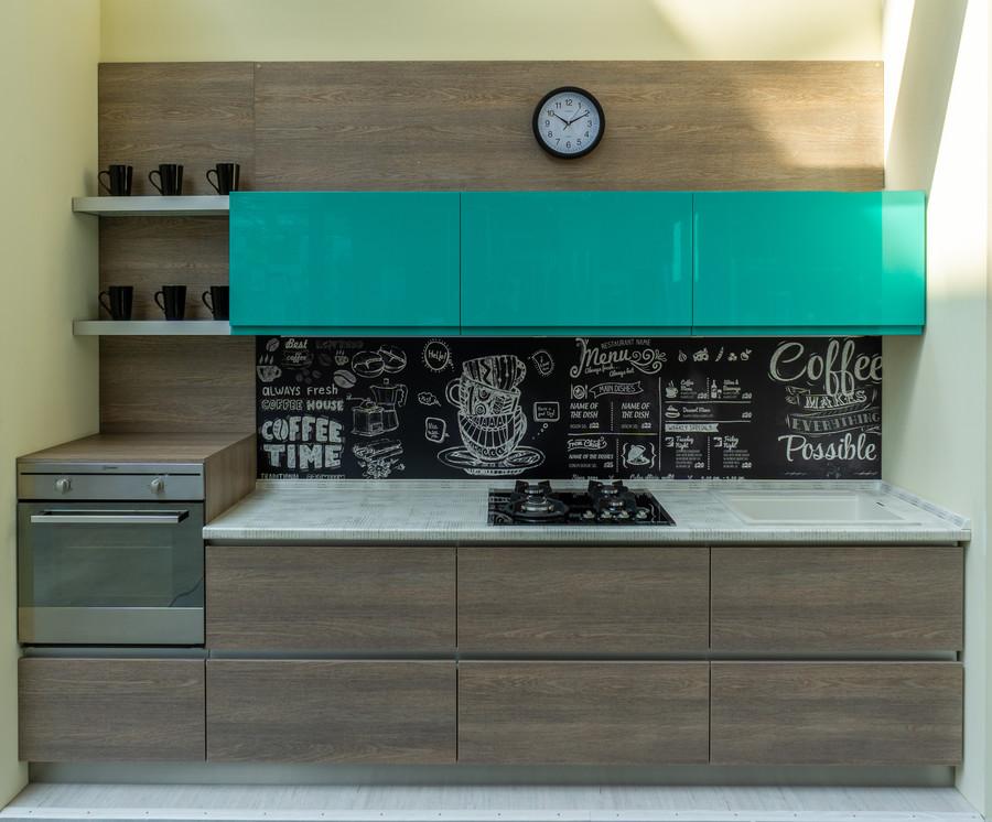 Встроенная кухня-Кухня МДФ в пластике «Модель 49»-фото2