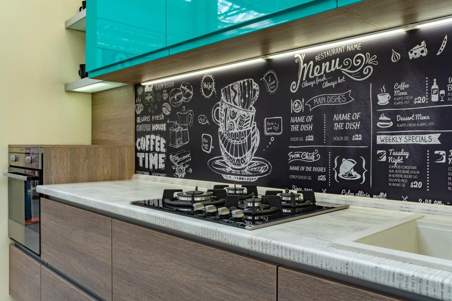 Встроенная кухня-Кухня МДФ в пластике «Модель 49»-фото4