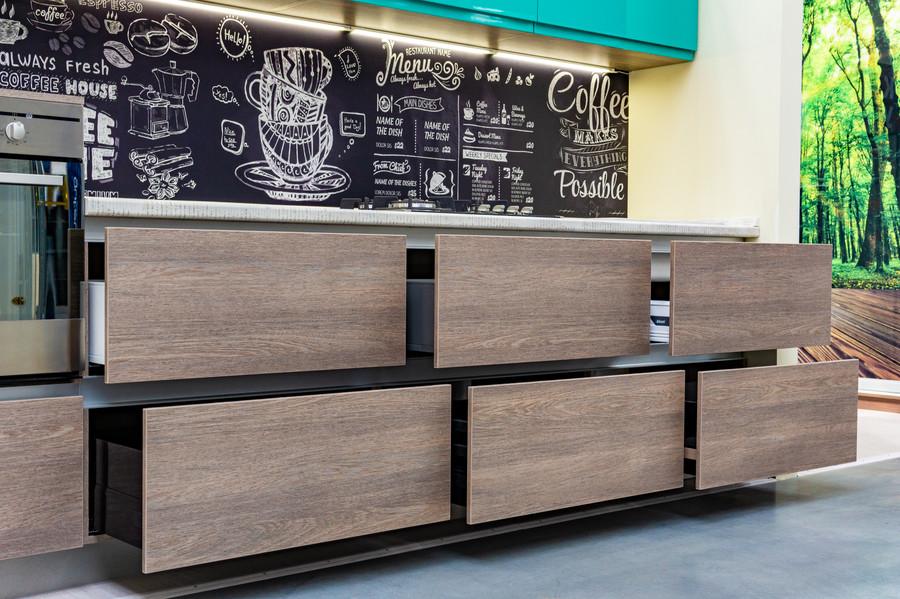 Встроенная кухня-Кухня МДФ в пластике «Модель 49»-фото5
