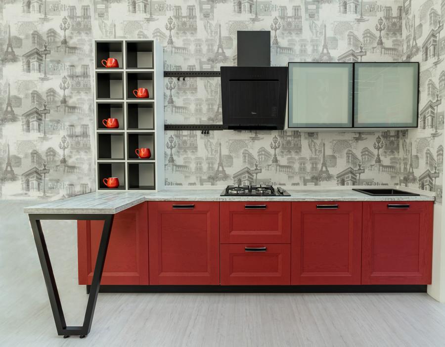 Белый кухонный гарнитур-Кухня МДФ в ПВХ «Модель 51»-фото2