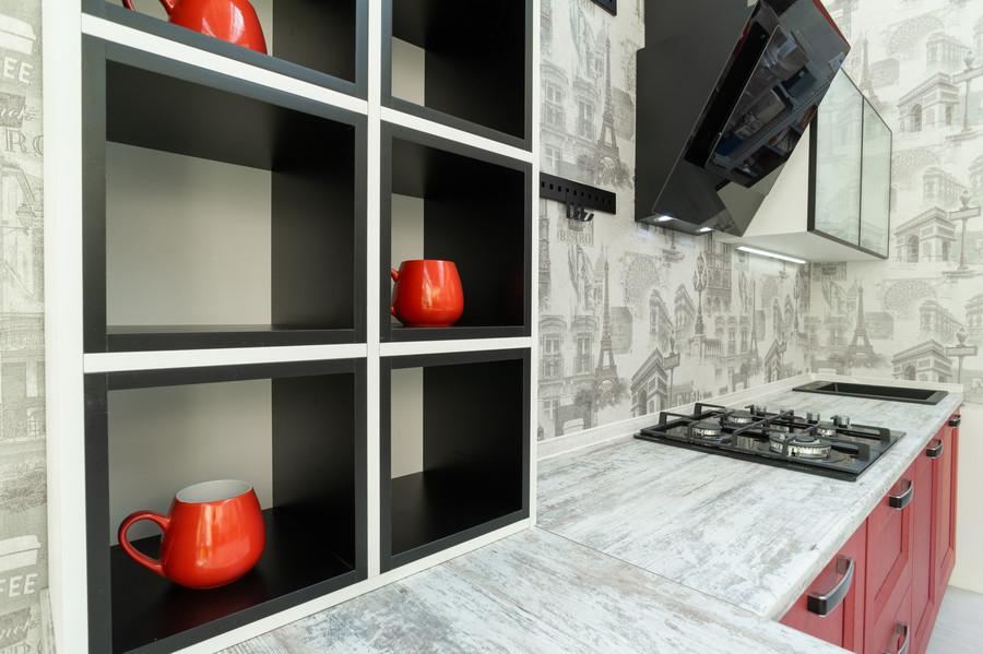 Белый кухонный гарнитур-Кухня МДФ в ПВХ «Модель 51»-фото5