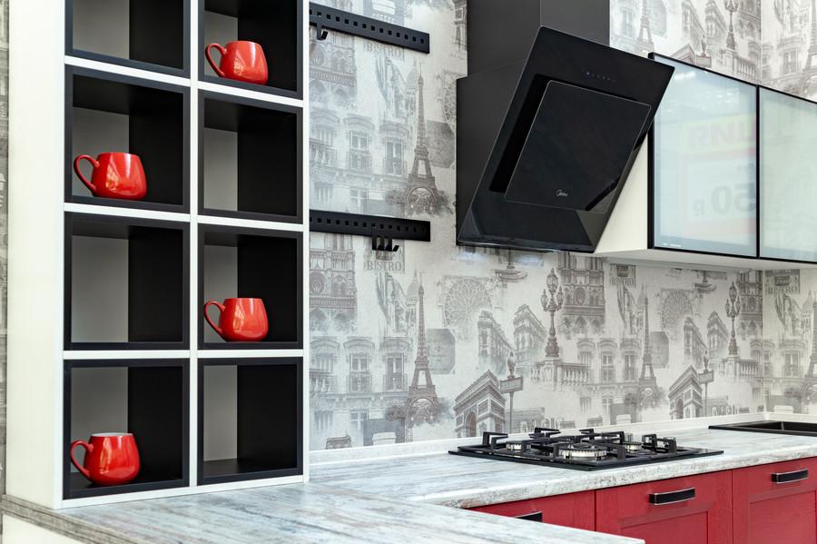 Белый кухонный гарнитур-Кухня МДФ в ПВХ «Модель 51»-фото7