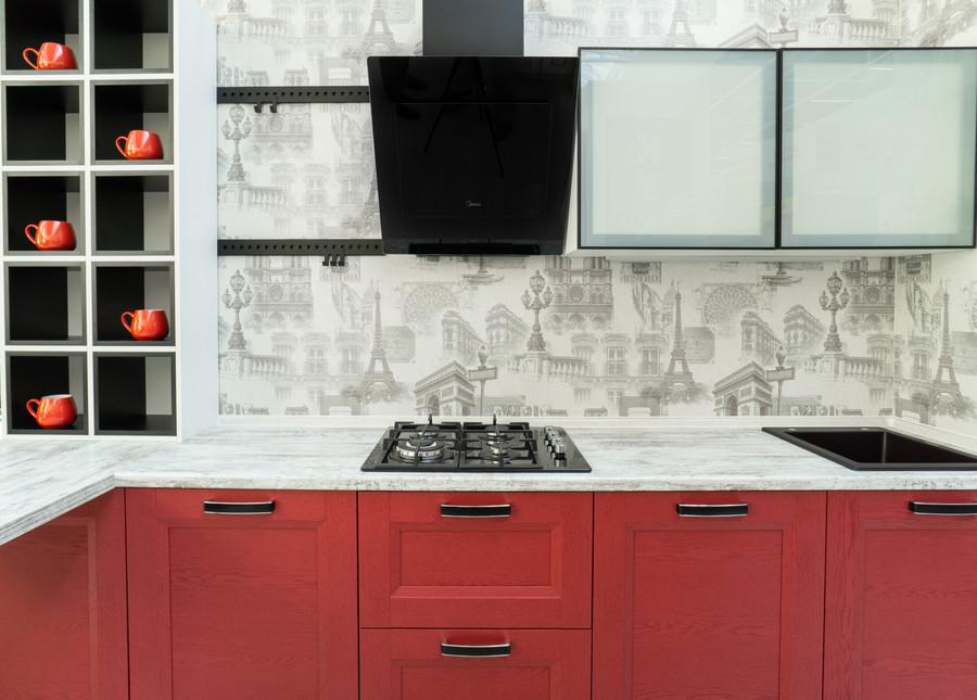 Белый кухонный гарнитур-Кухня МДФ в ПВХ «Модель 51»-фото4