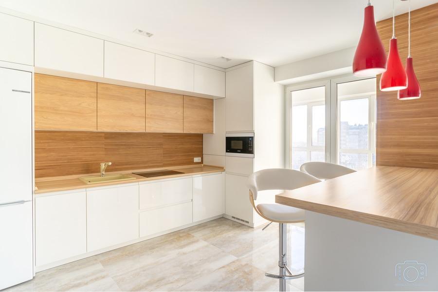 Белый кухонный гарнитур-Кухня МДФ в эмали «Модель 5»-фото2