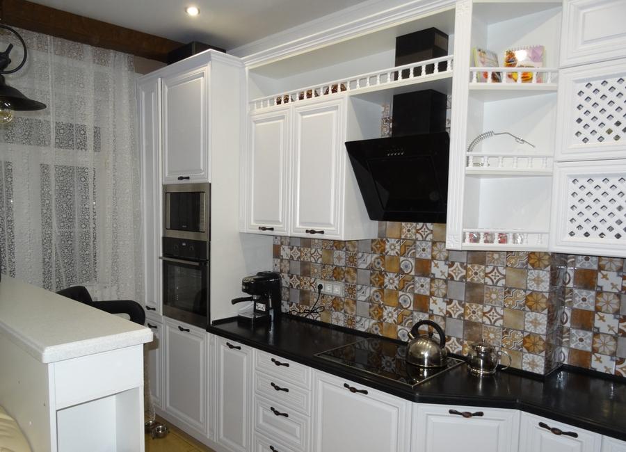 Встроенная кухня-Кухня МДФ в эмали «Модель 20»-фото3