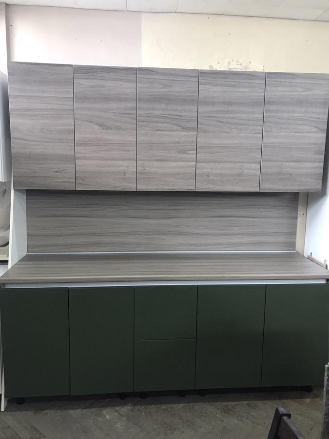 Встроенная кухня-Кухня МДФ в ПВХ «Модель 64»-фото1