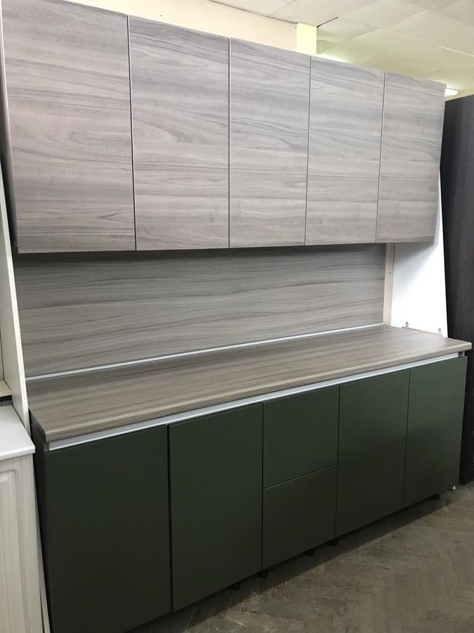 Встроенная кухня-Кухня МДФ в ПВХ «Модель 64»-фото2