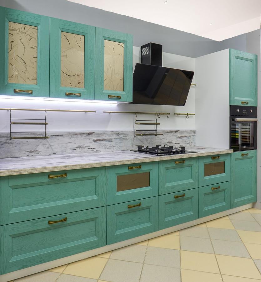 Встроенная кухня-Кухня из массива «Модель 46»-фото1