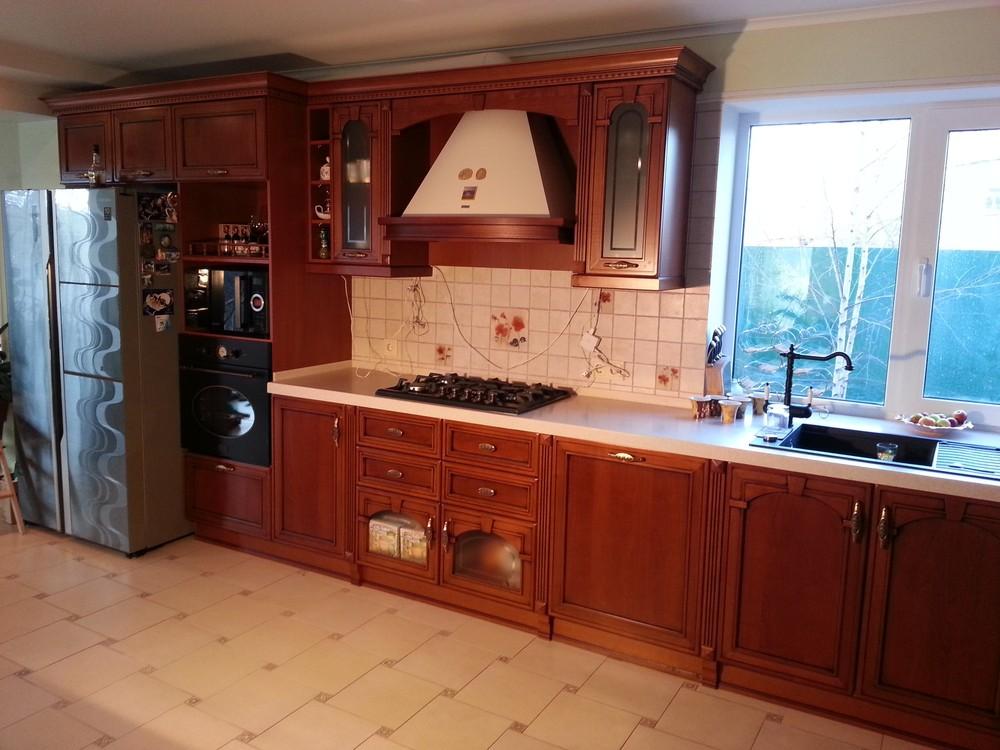 Встроенная кухня-Кухня из массива «Модель 291»-фото2