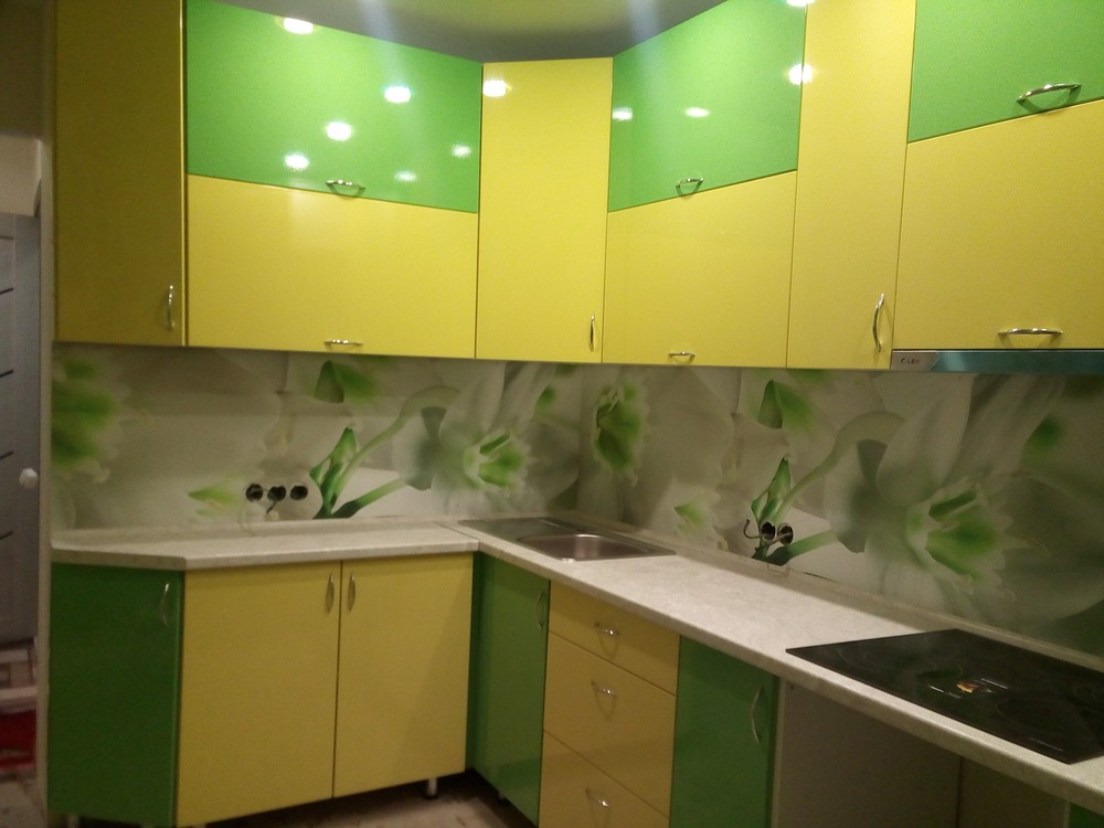Встроенная кухня-Кухня МДФ в ПВХ «Модель 329»-фото1