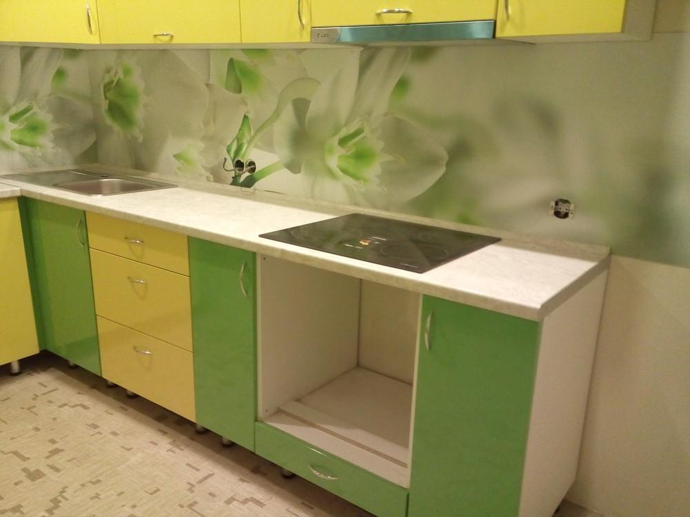 Встроенная кухня-Кухня МДФ в ПВХ «Модель 329»-фото4