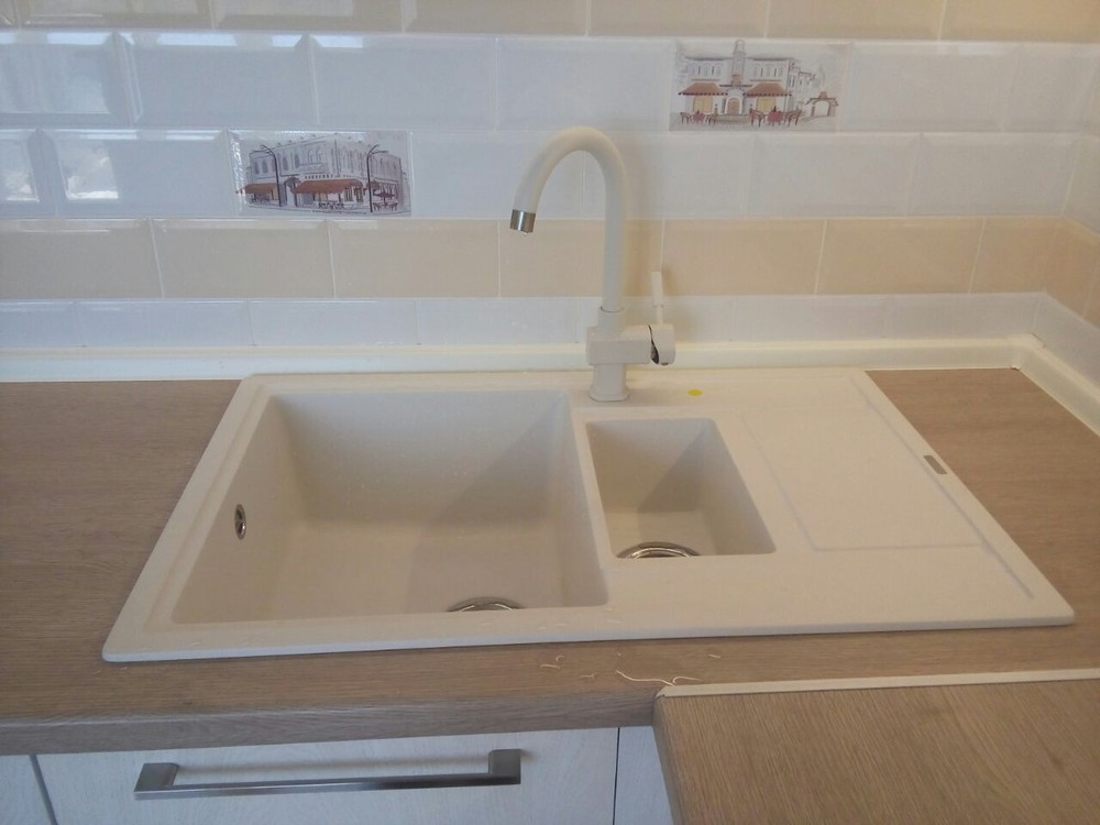 Белый кухонный гарнитур-Кухня МДФ в ПВХ «Модель 342»-фото4