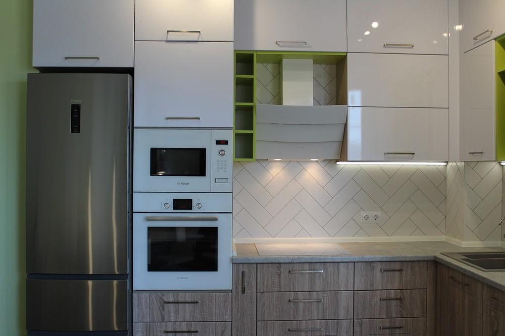 Акриловые кухни-Кухня МДФ в ПВХ «Модель 77»-фото6