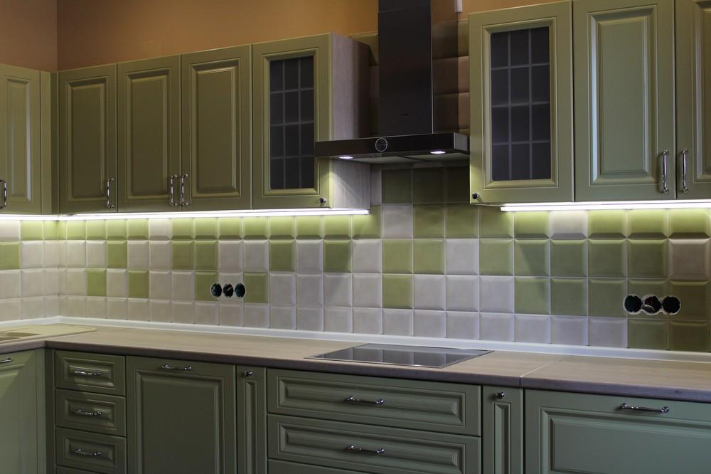 Встроенная кухня-Кухня МДФ в ПВХ «Модель 91»-фото1