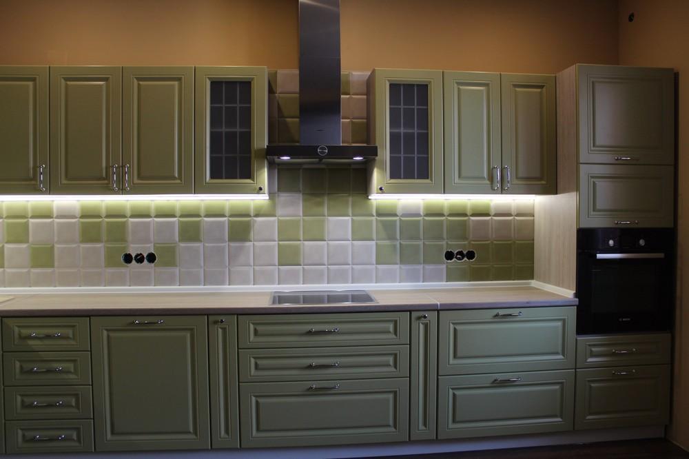 Классические кухни-Кухня МДФ в ПВХ «Модель 91»-фото3
