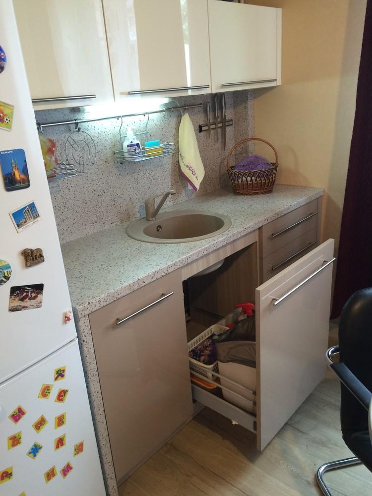 Акриловые кухни-Кухня из пластика «Модель 104»-фото7