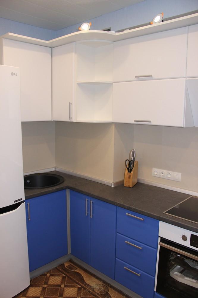 Встроенная кухня-Кухня МДФ в ПВХ «Модель 356»-фото1
