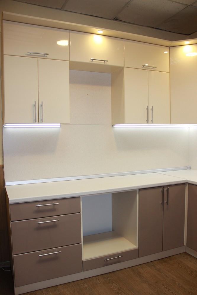 Встроенная кухня-Кухня МДФ в ПВХ «Модель 362»-фото1