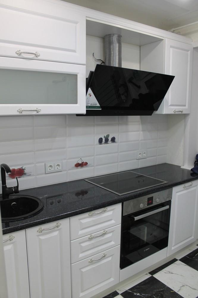 Белый кухонный гарнитур-Кухня МДФ в ПВХ «Модель 332»-фото2