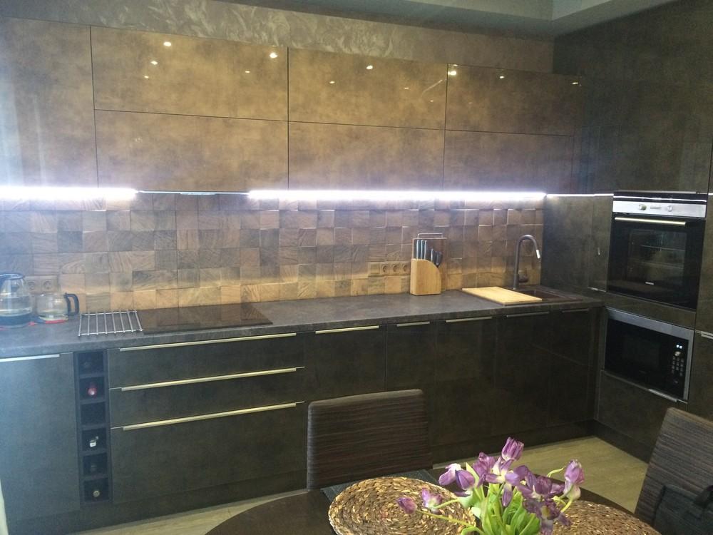 Акриловые кухни-Кухня из пластика «Модель 113»-фото2