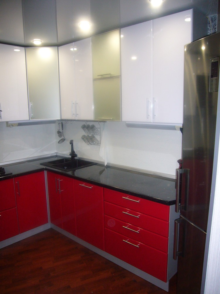 Встроенная кухня-Кухня МДФ в ПВХ «Модель 351»-фото2