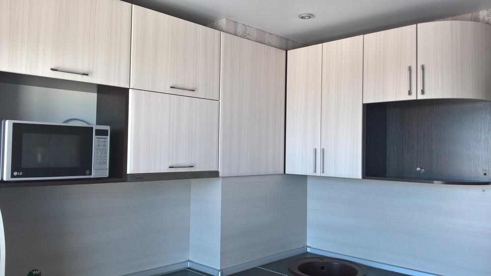 Встроенная кухня-Кухня МДФ в ПВХ «Модель 367»-фото4
