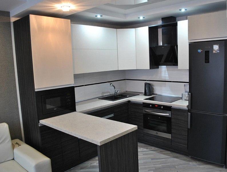 Белый кухонный гарнитур-Кухня из ЛДСП «Модель 98»-фото1
