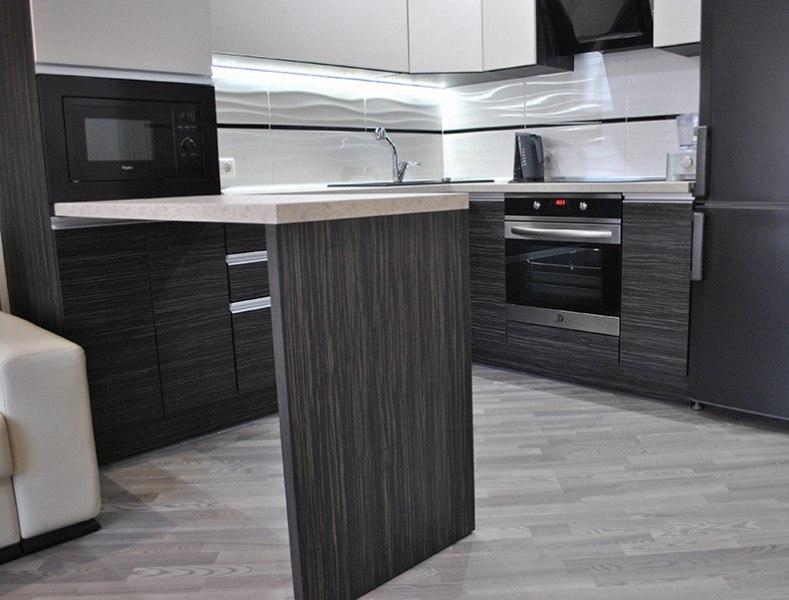 Белый кухонный гарнитур-Кухня из ЛДСП «Модель 98»-фото2