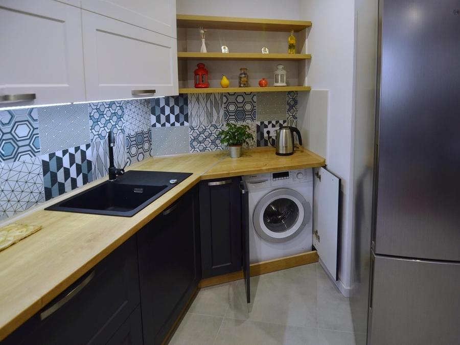 Белый кухонный гарнитур-Кухня МДФ в пленке ПВХ «Модель 112»-фото5