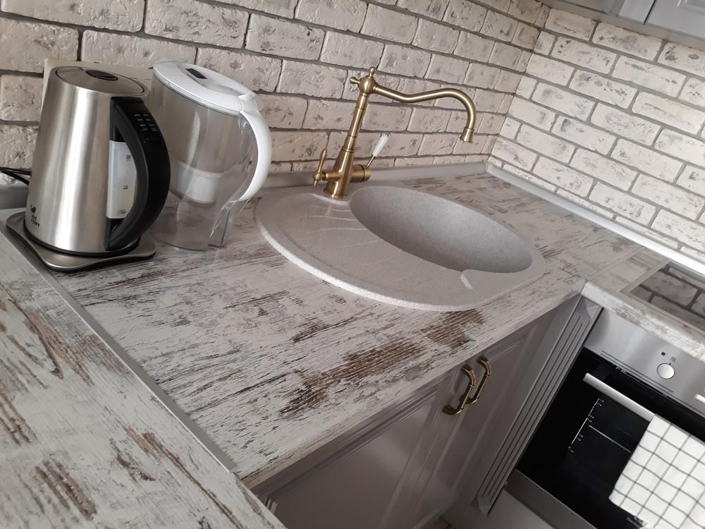 Встроенная кухня-Кухня МДФ в эмали «Модель 281»-фото5
