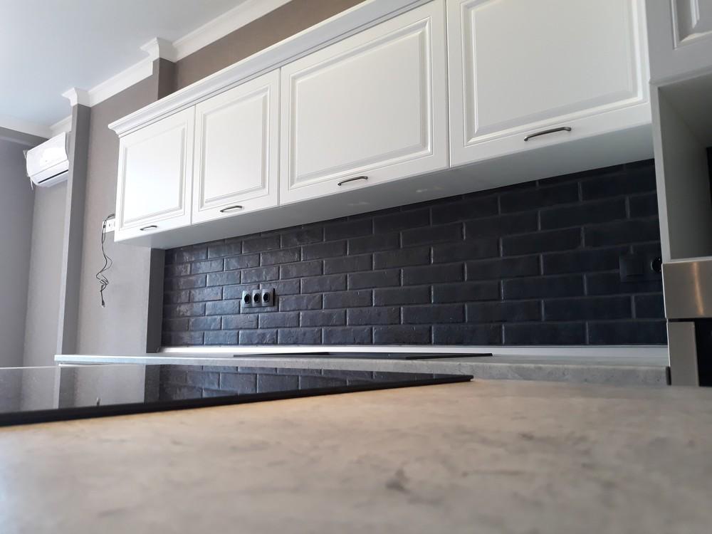 Белый кухонный гарнитур-Кухня МДФ в ПВХ «Модель 280»-фото6