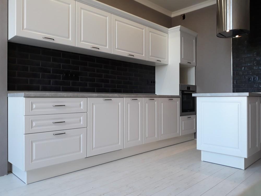 Белый кухонный гарнитур-Кухня МДФ в ПВХ «Модель 280»-фото8