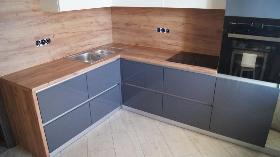 Белый кухонный гарнитур-Кухня МДФ в эмали «Модель 230»-фото1