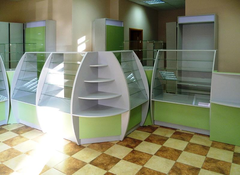 Торговая мебель-Мебель для аптеки «Модель 185»-фото1