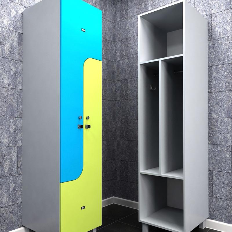Торговая мебель-Шкафчики для раздевалки «Модель 164»-фото1