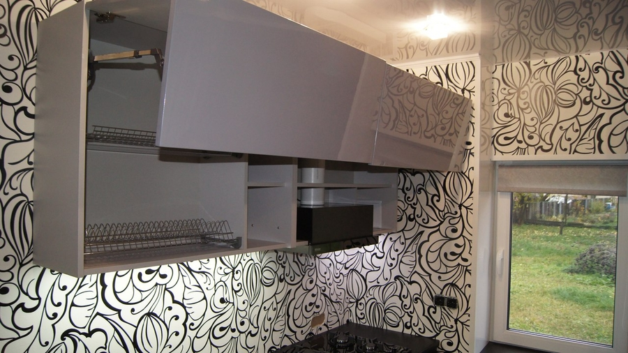 Глянцевые кухни-Кухня МДФ в эмали «Модель 285»-фото7
