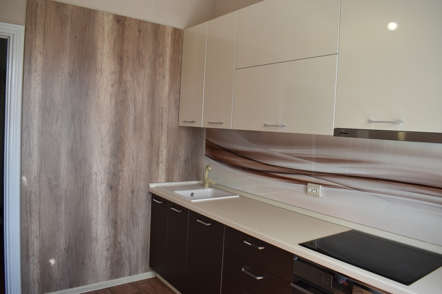 Белый кухонный гарнитур-Кухня МДФ в ПВХ «Модель 504»-фото4